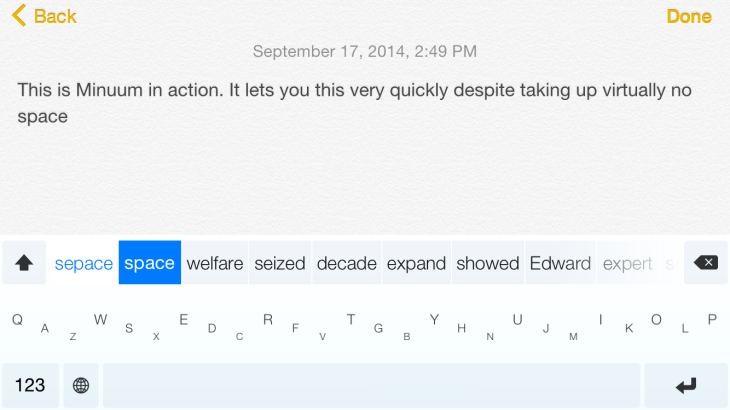 Minuum S Ios 8 Keyboard Lets You See A Lot More Screen As You Type