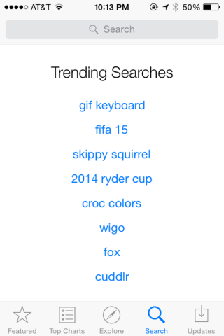 "iOS App Store's ""Trending Searches"" Section Shows Evidence Of Gaming"