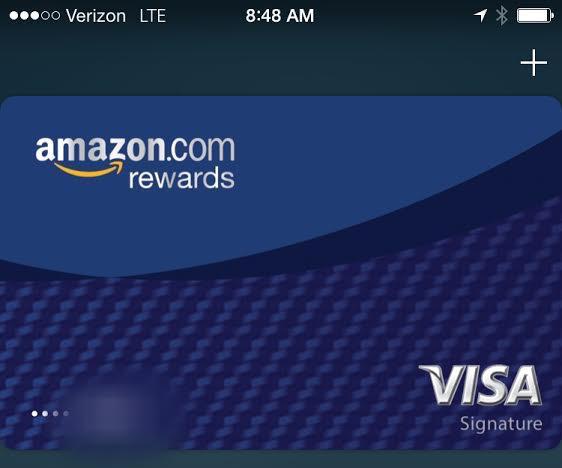 amazon rewards visa cards now compatible with apple pay techcrunch - Visa Rewards Card