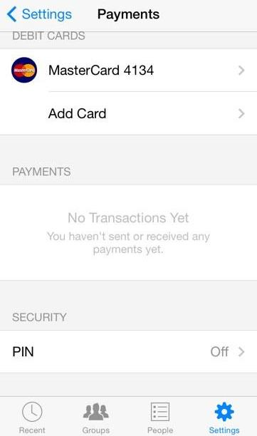 Facebook Payments Settings