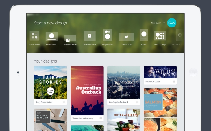 Canva Brings Its Easy-To-Use Design Platform To The iPad | TechCrunch