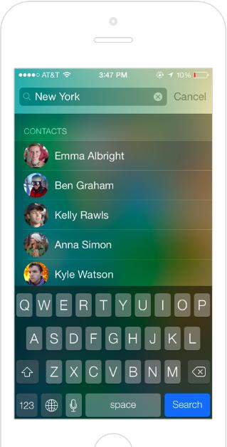 iPhone Powerful Spotlight Search