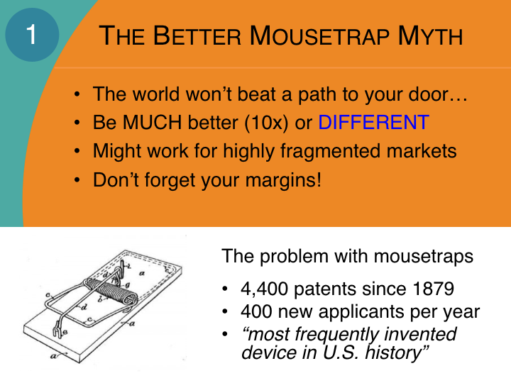 The better mousetrap myth