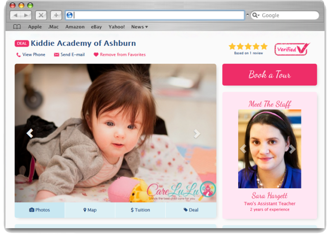CareLuLu Daycare Profile Page