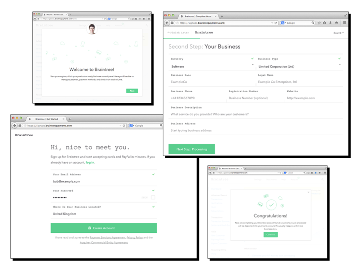 Braintree Now Lets Merchants In Europe Sign Up With An Email, A URL