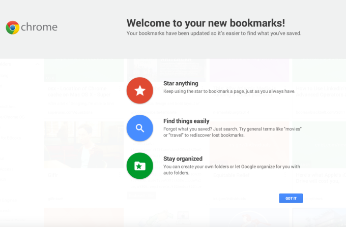 """Google's New Bookmarking Interface, Formerly Called """"Stars"""