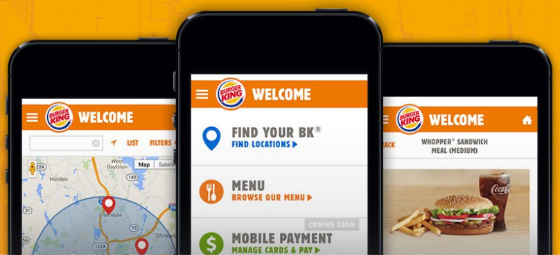 burger king app mcdonalds