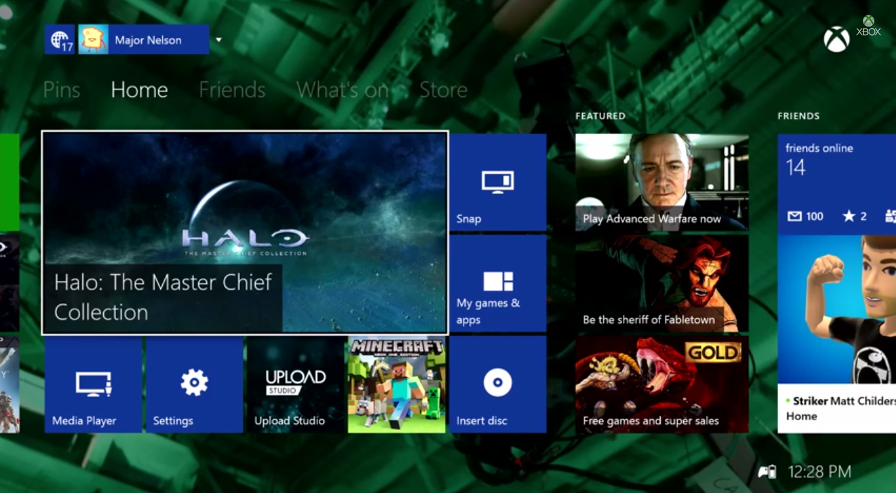 Xbox One November Update Brings Custom Backgrounds And Twitter Integration Techcrunch