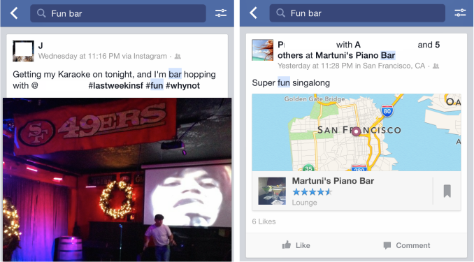 Facebook Fun Bar