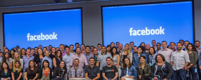 The LiveRail team at Facebook orientation
