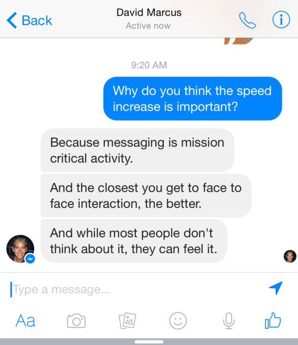 Facebook Messenger Shows Its New Speed With Facepile Read Receipts