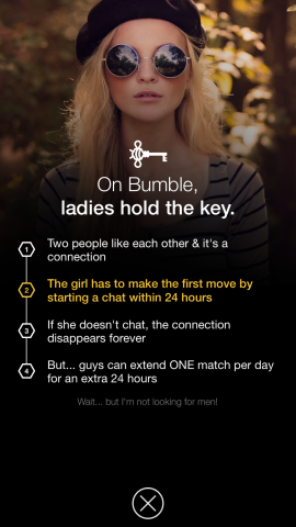 Bumble Is Exactly Like Tinder Except Girls Are In Charge | TechCrunch