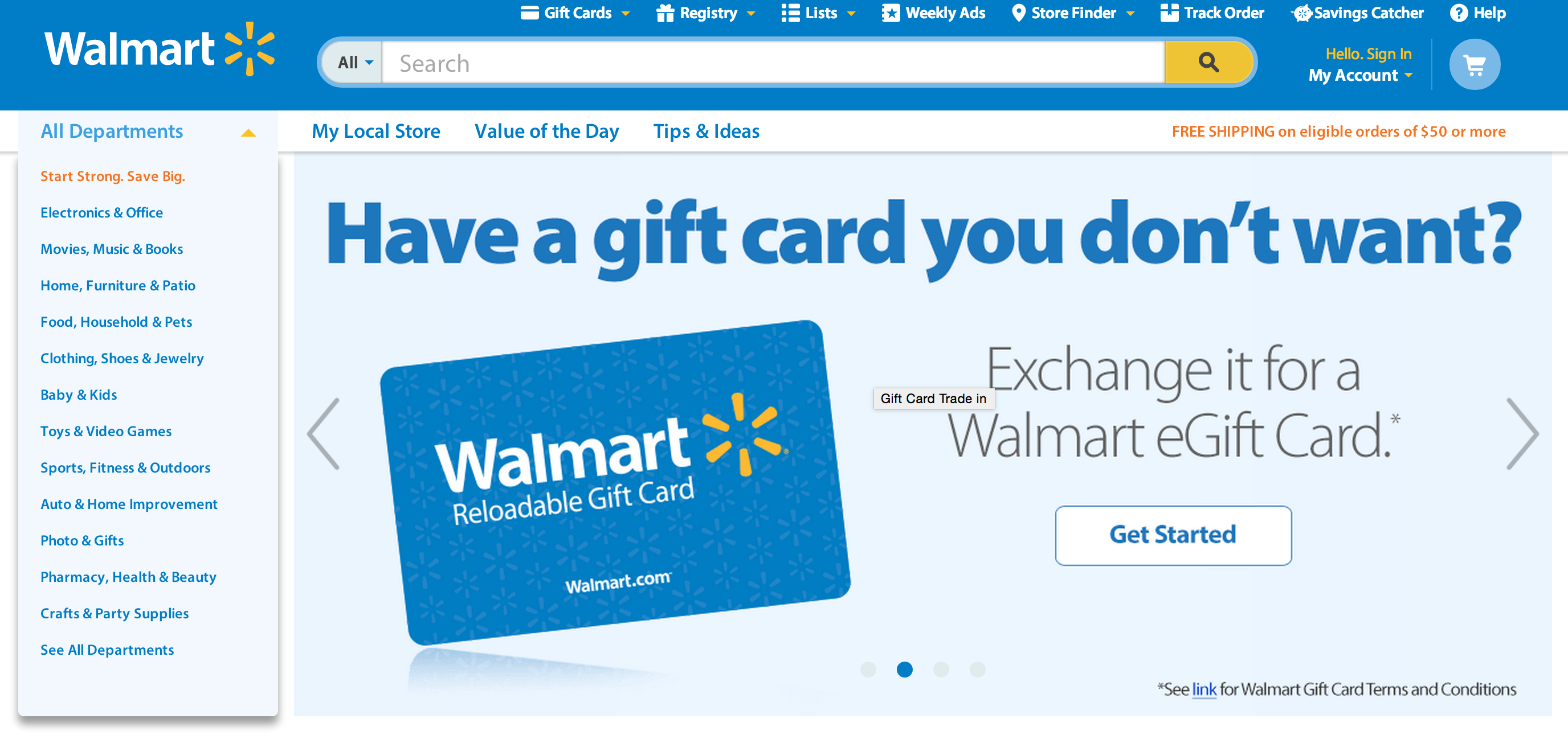 Walmart's New Site Allows Consumers To Exchange Unwanted Gift Cards