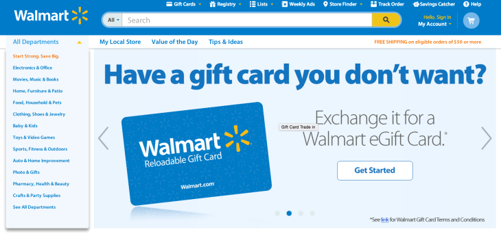 Walmart S New Site Allows Consumers To Exchange Unwanted Gift Cards