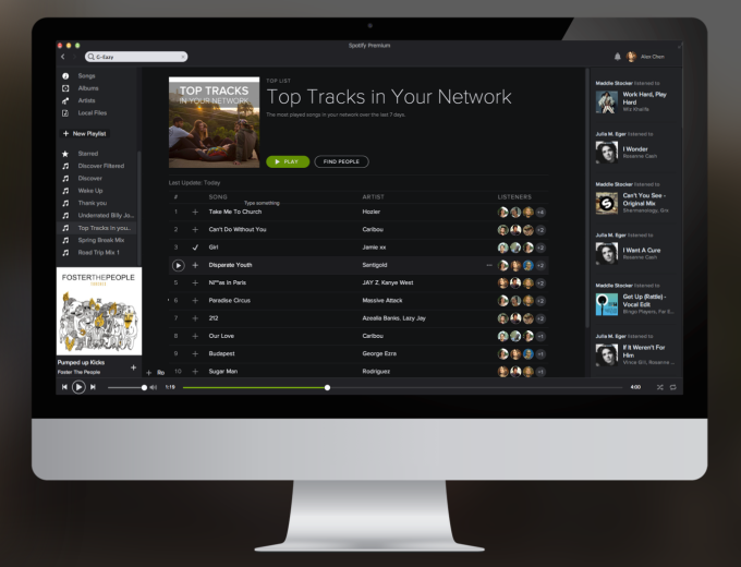 Top Tracks - Desktop