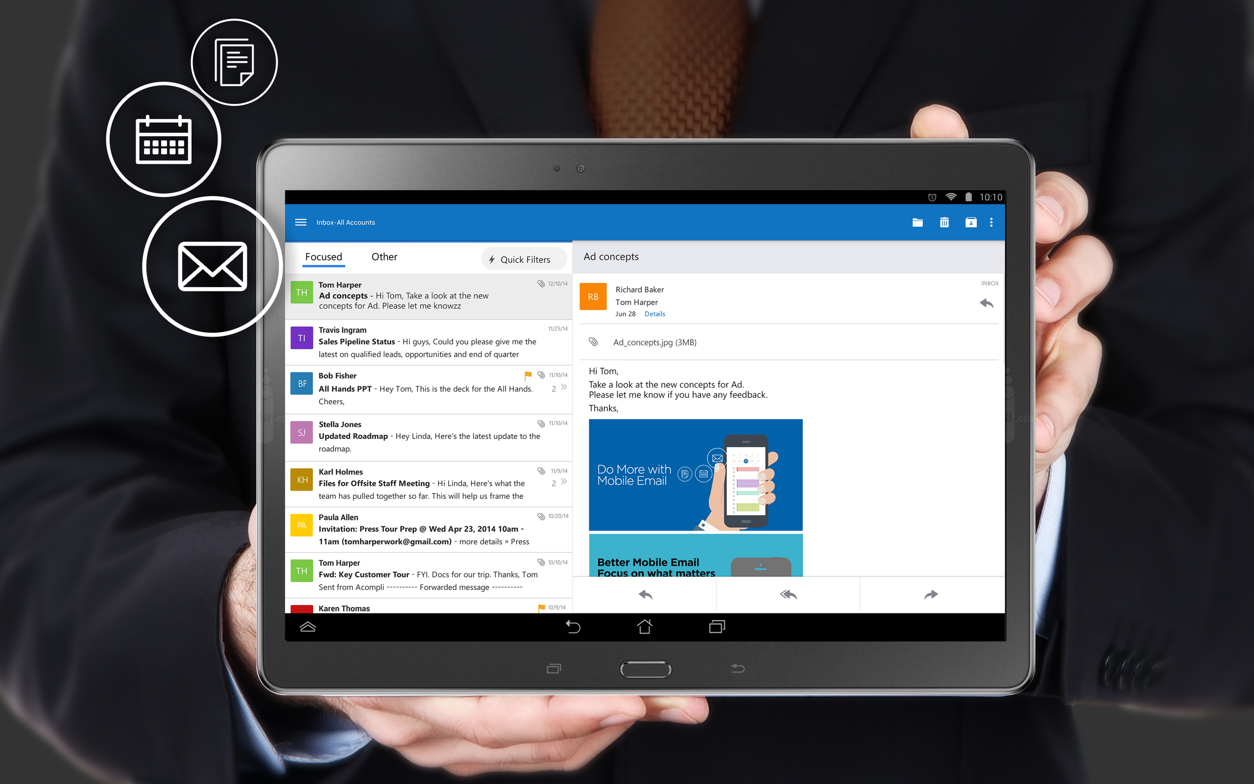 Microsoft Launches Outlook For iOS And Android | TechCrunch