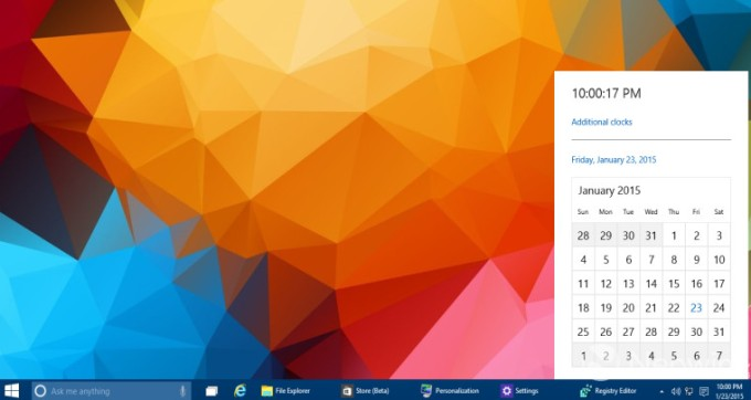 Here's How To Turn On Windows 10's New, Hidden Calendar And