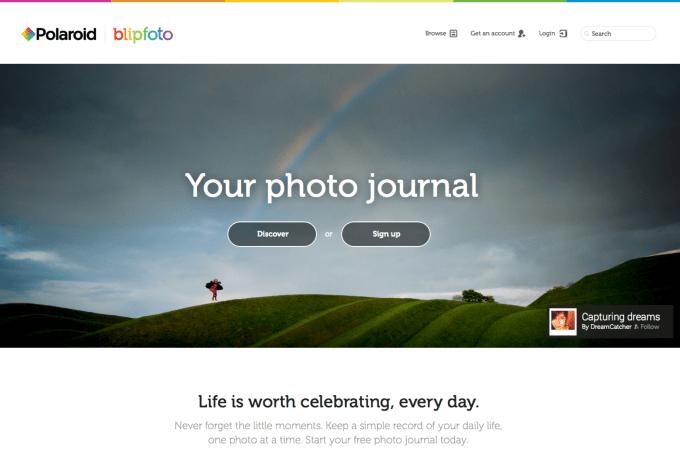 Polaroid Blipfoto webpage