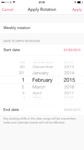Calendrier Work Shift.Shifts Is A Beautiful Mobile Calendar App Designed For Shift