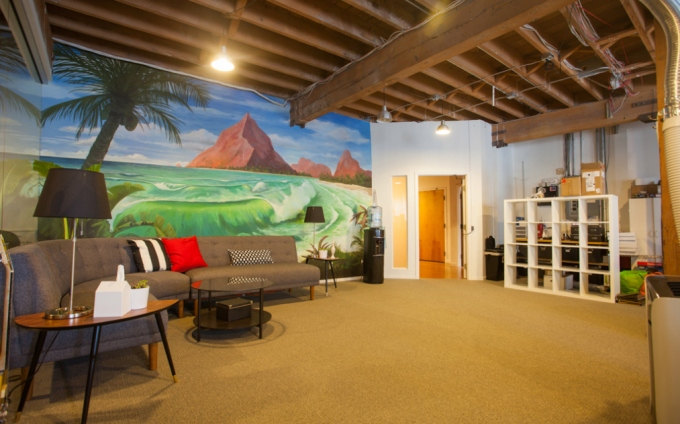 Rothenberg Ventures' office where the River VR accelerator class will work together