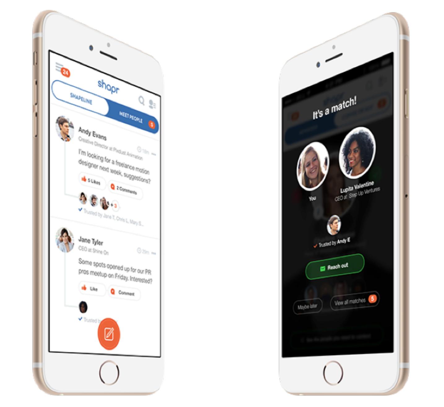 Shapr app tinder career networking
