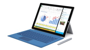 Surface Pro 3 with blue keyboard