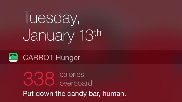 Carrot Hunger Is An App That Shames You Into Eating ...