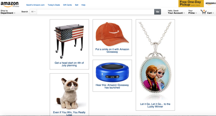 Amazon's Newest Tool Lets Anyone Host Giveaways Online | TechCrunch