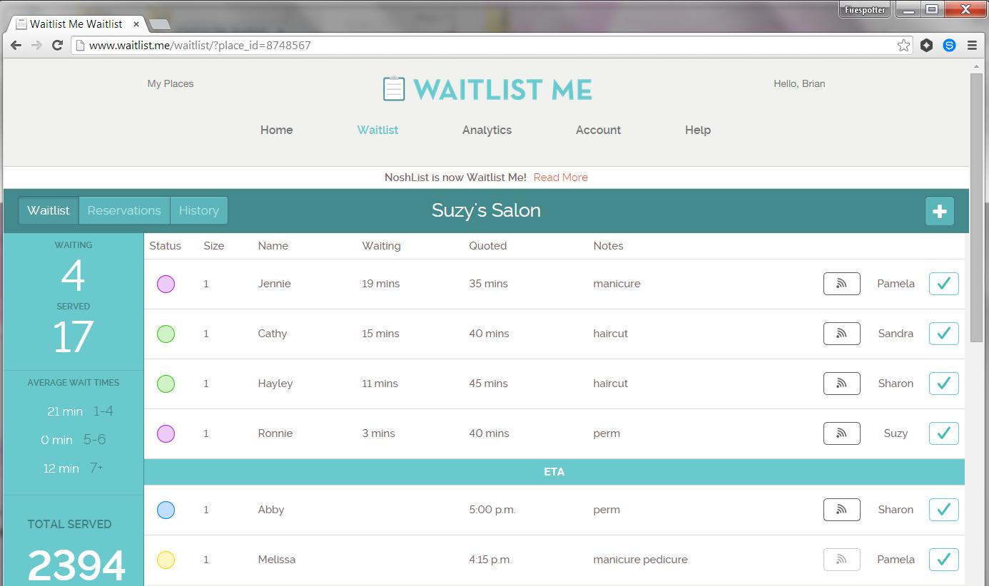 Noshlist Becomes Waitlist Me To Help Businesses Manage Wait