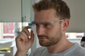 Serious man wearing Glass.