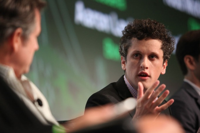 Box CEO Aaron Levie at TechCrunch Disrupt SF 2012.