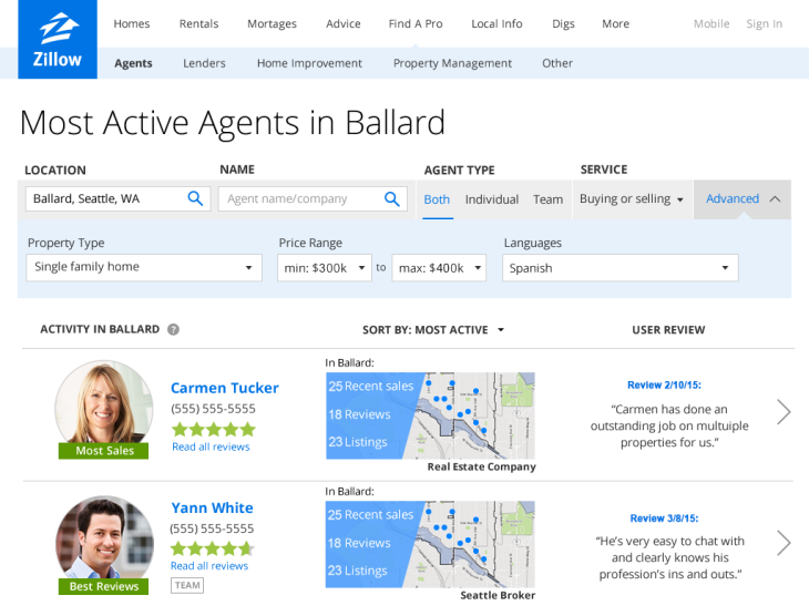 Zillow Launches Agent Finder To Help You Find The Best Realtor In