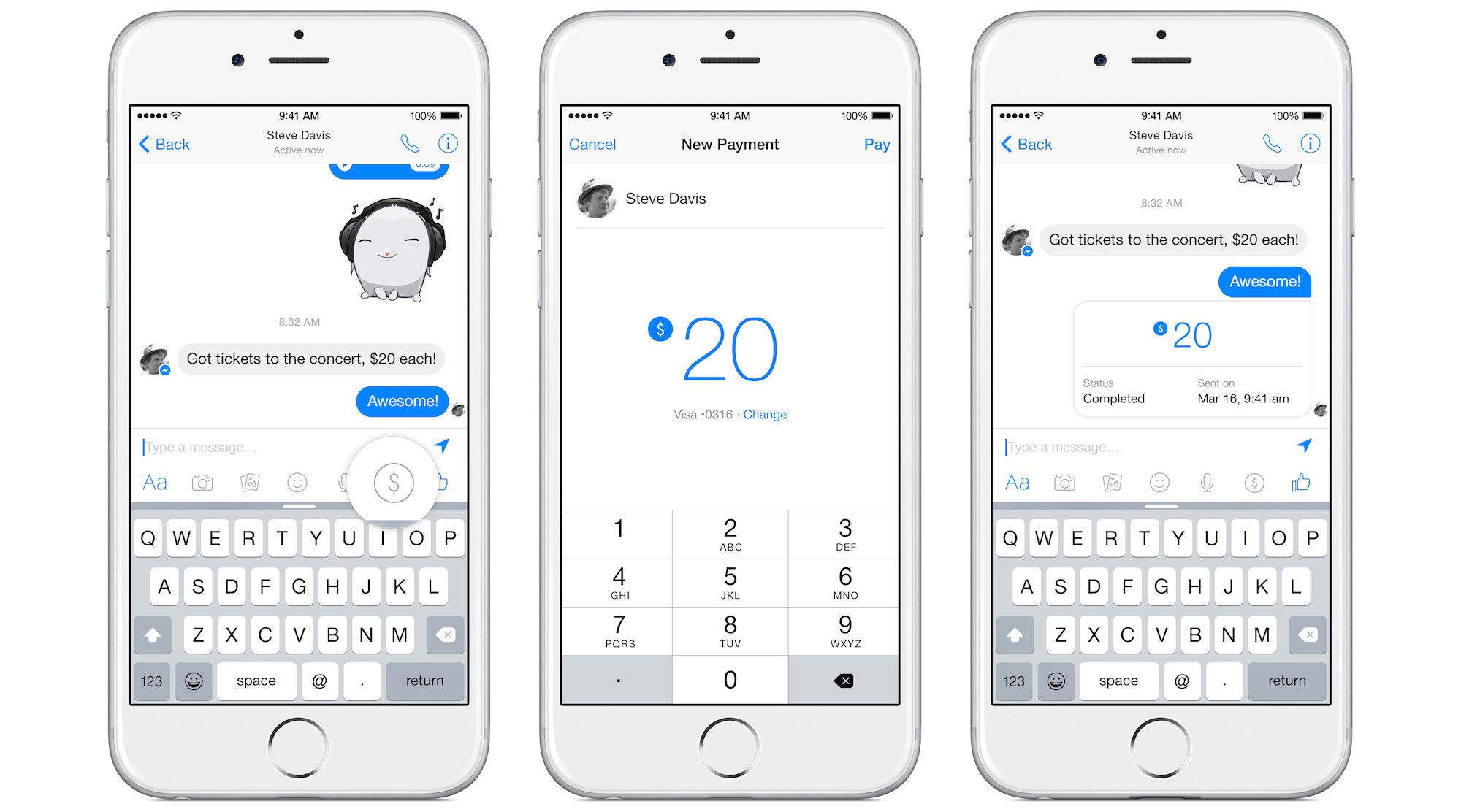 Facebook Introduces Free Friend To Payments Through Messages Wiring Money Walmart Techcrunch