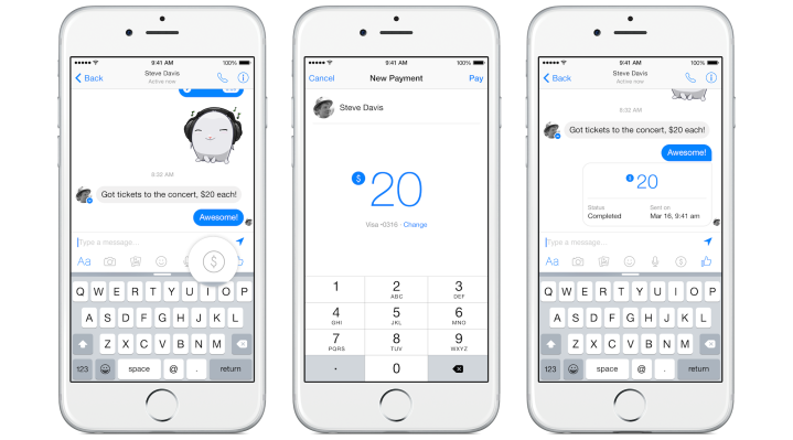 Facebook Introduces Free Friend To Friend Payments Through Messages