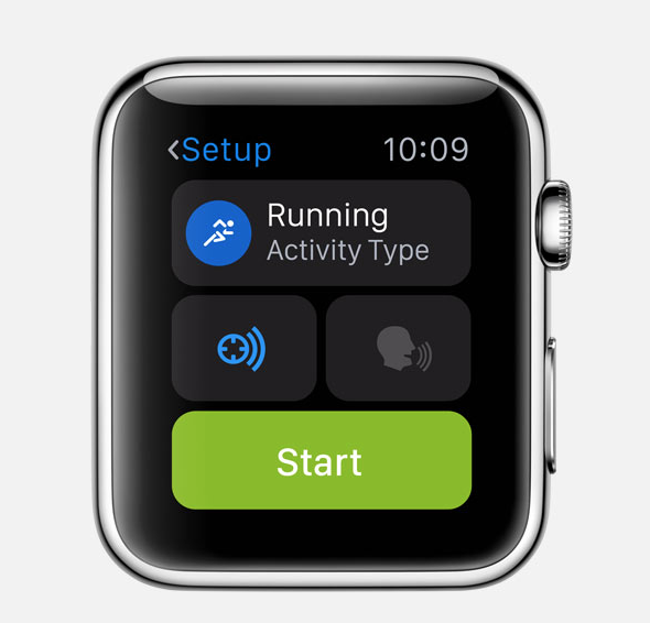 how to change apple watch running stats