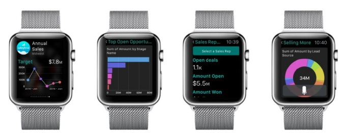 Salesforce Wave on Apple Watch.