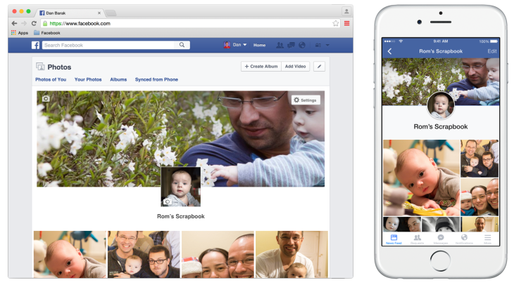 Facebooks New Photo Scrapbook Lets Parents Give Kids An Official