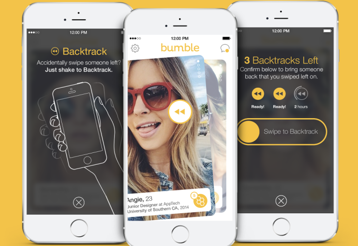 bumble dating app swipe right