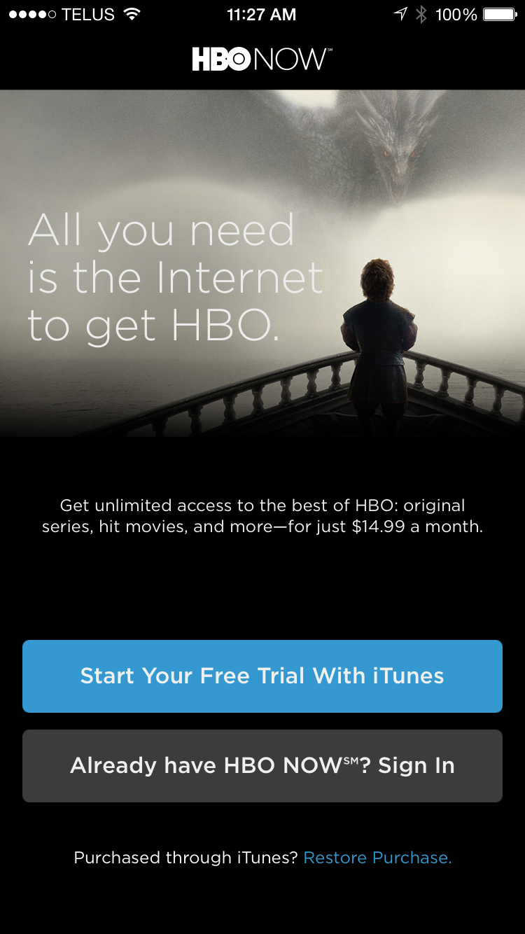 HBO Now Arrives On Apple TV, iPhone And iPad | TechCrunch