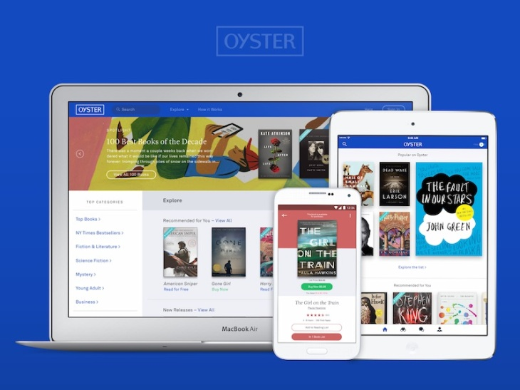 E-Book App Oyster To Shut Down, Team Members Will Join