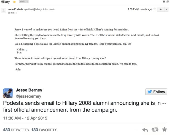 Hillary Clinton presidential bid