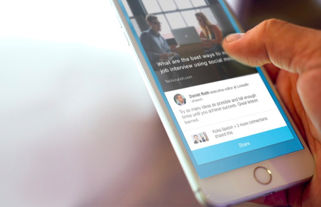 Linkedin Raises Its Game In Social Media With Elevate An App To Suggest And Share Stories Techcrunch