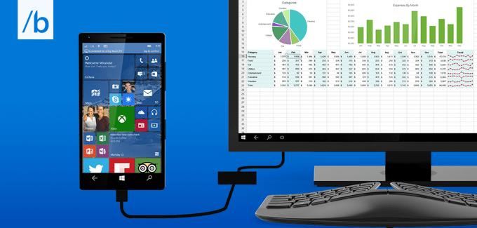 Windows 10 phone Contiuum