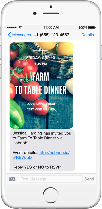 Hobnob lets you create personalized event invites to send by text hobnob2textframed hobnob1selectdesignframed stopboris Choice Image