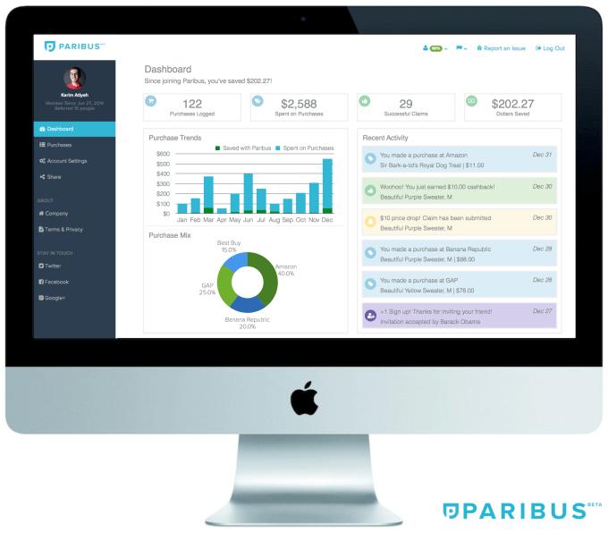 Paribus - 3 - Dashboard