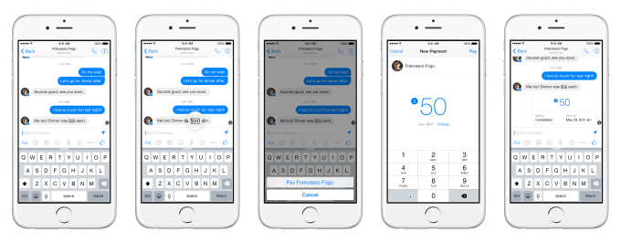 Payments in Messenger Conversation Send Mock5.20[4]