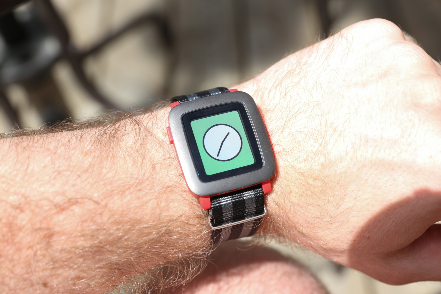 Pebble Time Review Techcrunch Smartwatch Red Strap Option