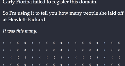 Someone Has A Domain For Carly Fiorina's Name And Is Pretty Upset