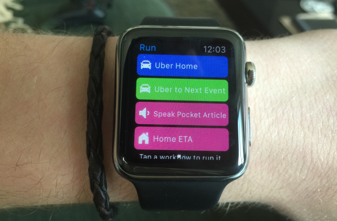 Workflow Apple Watch app