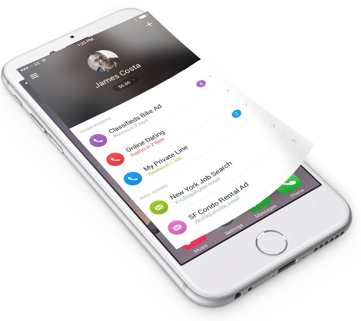 Shuffle's New iPhone App Lets You Create Disposable Phone Numbers